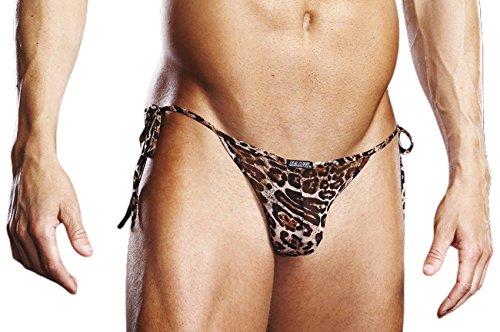Preisvergleich Produktbild Blueline Men's Mesh Tie Side Bikini, Leopard, Small/Medium