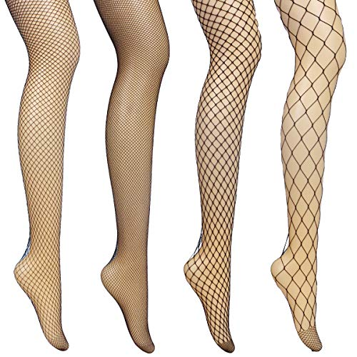 Fishnet Stockings - Fishnet Tights Womens, Sexy High Waisted Extra Wide Stretchy Sheer Tights Hollow Out Socks, Soft Elastic Anti-Hook Transparent Tights