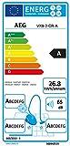 AEG VX9-2-CR-A Staubsauger mit Beutel (850 W, EEK A, nur 65 dB(A), 12 m Aktionsradius, 5 l Staubbeutelvolumen, waschbarer Allergy Plus Filter) rot - 2