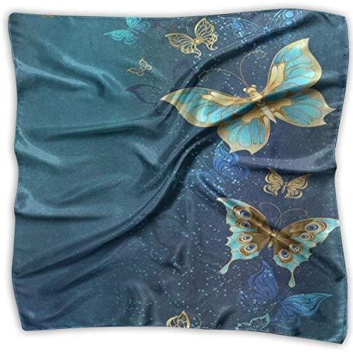 Bikofhd Unisex-Krawatte für Herren, quadratisch, schimmernd, Schmetterlingsblume