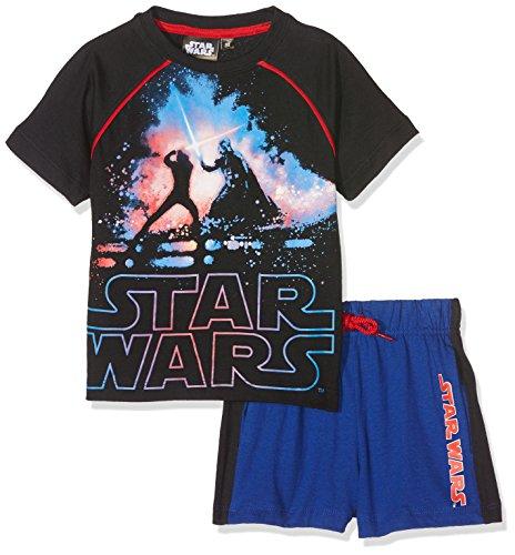 -Shirt + Shorts Star Wars, Noir (Noir), 7-8 Jahre (Hersteller Größen: 8 Jahre) (Han Und Leia Kinder)