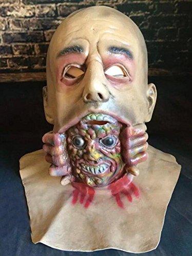 JJH-ENTER Maske Umweltschutz Emulsion Glatze Große geister Maske Halloween Terror Zombie Kopfbedeckung