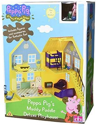 Peppa Pig – La Grande Maison Boueuse de Peppa – Bâtiment et Figurines 5cm