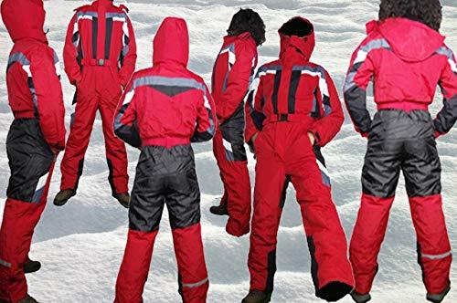 Moderei Auswahl an Schneeanzug | Schneeoverall Skianzug | Skioverall Snowboard Unisex | Jungen | Mädchen | Herren | Damen Schneeanzug (Blau, Rot, Orange, Schwarz 146-170) ... (Rot, 158)