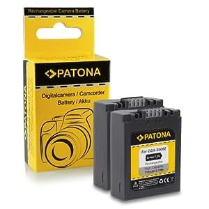 2x Batterie CGA-S006 pour Panasonic Lumix DMC-FZ7 | DMC-FZ8 | DMC-FZ18 | DMC-FZ28 | DMC-FZ30 | DMC-FZ38 | DMC-FZ50