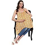 Wobbly Walk Nursing Cover / Feeding Cloak Abstract Print (Yellow)