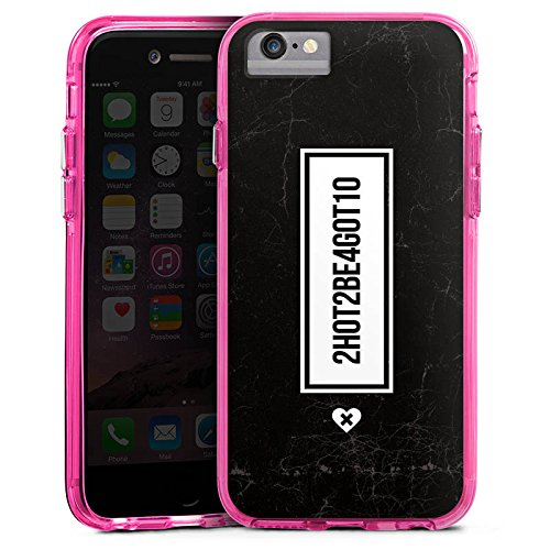 Apple iPhone 7 Bumper Hülle Bumper Case Glitzer Hülle Leben Vie Life Bumper Case transparent pink