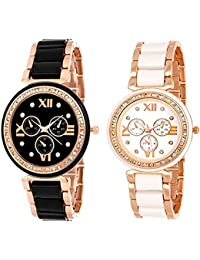 Arric Watches Exclusive Premium Quality Analog Black & White Dail Combo Watches For Women's & Girls Watch (Pack...