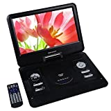 DBPOWER 13.3 Tragbarer DVD-Player mit drehbarem Display (13.3 Schwarz 1)