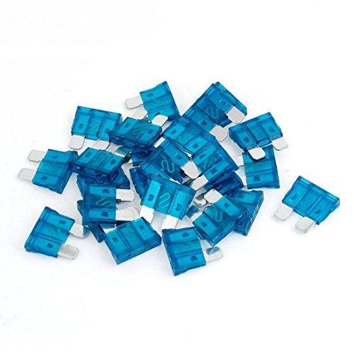 DealMux 15A Auto Médias lâmina de fusíveis, Blau, 25 Stück