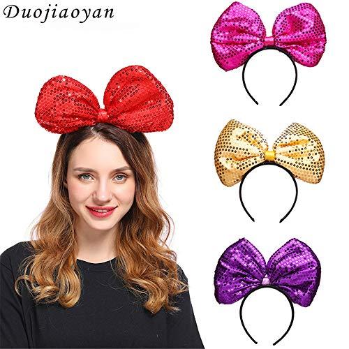 TTYHG Bogen Stirnband, Pailletten Party Kopfbedeckung Make-up Abschlussball Party Rollenspiele Kleidung Accessoires, ()