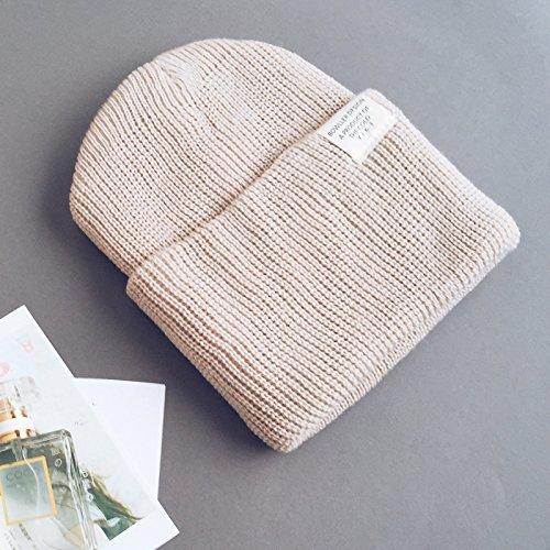 FQG*La femme coréenne belle chaud hiver tricot oreilles hat mâle et l'automne et l'hiver hiver hat tricot , noir Le kaki