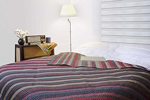 SWEET DREAMS HOME - Hypoallergénique Couverture 100% Péruvienne ALPAGA Fleece Couvre-Lit , Taille Double (84