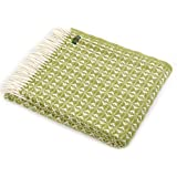 Lifestyle Cobweave pure new wool throw - Apple Green by Tweedmill Textiles