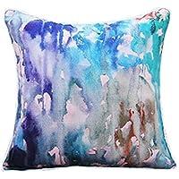 Cuscino divano tela/Macchie di acquerello animali abbracciano