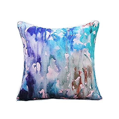 Canvas sofa pillow/Splashes of watercolor animals hug