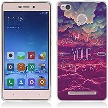 Funda Xiaomi Redmi 3, Funda Xiaomi Redmi 3S - Fubaoda - Alta Calidad Estilo dicho popular, Gel de Silicona TPU, Fina, Flexible, Resistente a los arañazos en su parte trasera, Amortigua los golpes, funda protectora anti-golpes para Xiaomi Redmi 3 / Redmi 3S