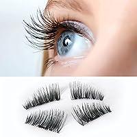 hkfv moderno mágico nuevo ojo pestañas 3d Visón ultrafina 0,2mm magnético maquillaje reutilizable falsas imán belleza