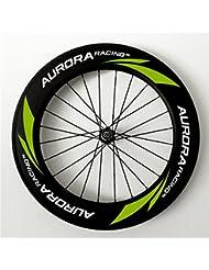 Aurora Racing 100% mano construido para bicicleta de carretera de carbono 88 mm ruedas tubulares