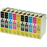 10 Druckerpatronen alternativ zu Epson T1291 T1292 T1293 T1294