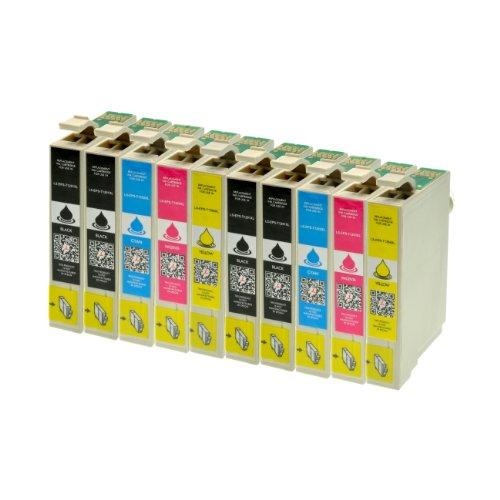 Preisvergleich Produktbild 10 Druckerpatronen alternativ zu Epson T1291 T1292 T1293 T1294