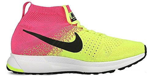Nike Zm Peg All Out Flyknit Oc Gs, Chaussures de Course Homme Amarillo (Volt / Black-Pink Blast)