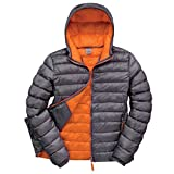 Result Urban Mens Snowbid Hooded Jacket (S) (Grey/Orange)