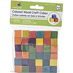 Craftwood 5/8 cubetti in legno 49/Pkg-Multicolor