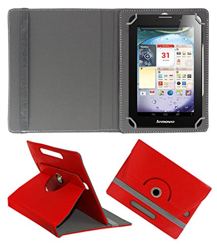 Acm Rotating 360° Leather Flip Case For Lenovo Ideapad A3000 Tablet Cover Stand Red  available at amazon for Rs.149