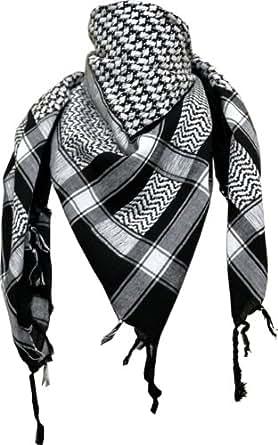 Arafat scarf in black/white