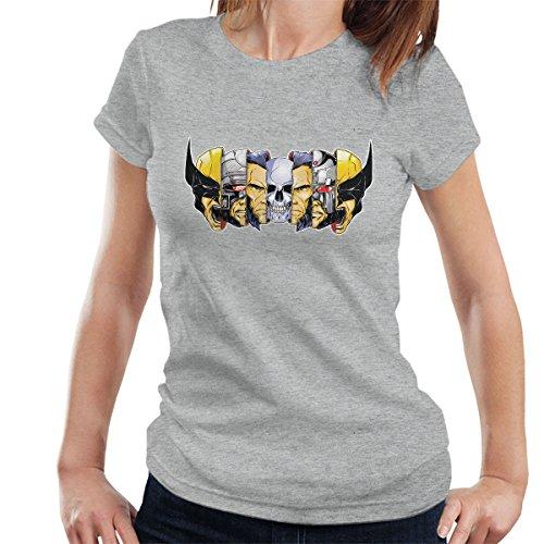 Xmen Berserker Wolverine Faces Women's T-Shirt (Berserker-tv)