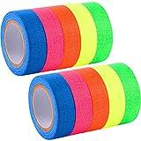 Spike Tape fluoreszierende Klebebänder Gaffer Band UV Blacklight reaktive Neon Bänder für Parteien Kunst Handwerk Dekorationen, 5 Farben (10 Rolle)