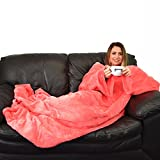 Slankets Comfy Soft Cosy Sleeved Blankets with Sleeves (Coral)
