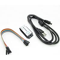 HiLetgo USB Logic Analyzer Device With EMI Ferrite Ring USB Cable 24MHz 8CH 24MHz 8 Channel UART IIC SPI Debug for Arduino ARM FPGA M100 SCM