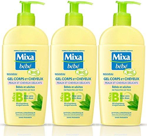 Mixa Baby Körper- und Haargel, Bio 250 ml, 3 Stück