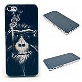 NightKid Lunettes de hip-hop pour le singe fumeur coque (iPhone 6S Plus iPhone 6S iPhone 6 Plus iPhone 6 iPhone 5C iPhone 5/5S iPhone 4/4S )(iPhone 6/4.7,Noir)
