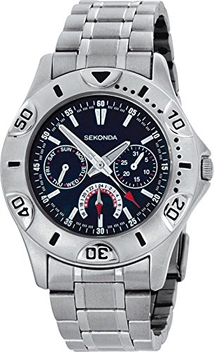 Sekonda hommes de montre cadran bleu Multi (228367399)