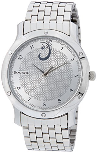 Sonata Sitara Analog Silver Dial Men's Watch - 7107SM01 image
