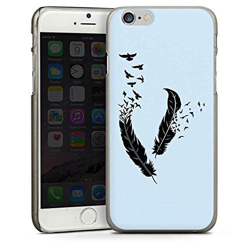 Apple iPhone 4 Housse Étui Silicone Coque Protection Ressort Oiseaux Paix liberté CasDur anthracite clair