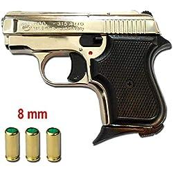 Pistolet Blancs en MÉTAL 315 Baby 8 MM Nickel 0.4 Joule- BR-315N.8