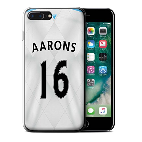 Offiziell Newcastle United FC Hülle / Gel TPU Case für Apple iPhone 7 Plus / Pack 29pcs Muster / NUFC Trikot Away 15/16 Kollektion Aarons