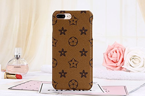 iphone6splus TPU (Fast bieten Uns Garantie FBA) Neuen Eleganten Luxus PU Leder Monogramm Muster Classic Style Schutzhülle für Apple iPhone 6/6S Plus, iPhone6sPlus Monogram Khaki