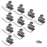10 Stück Batteriehalter für 2x Mignon AA Akkuhalter Batteriefach mit Schalter Ein Aus