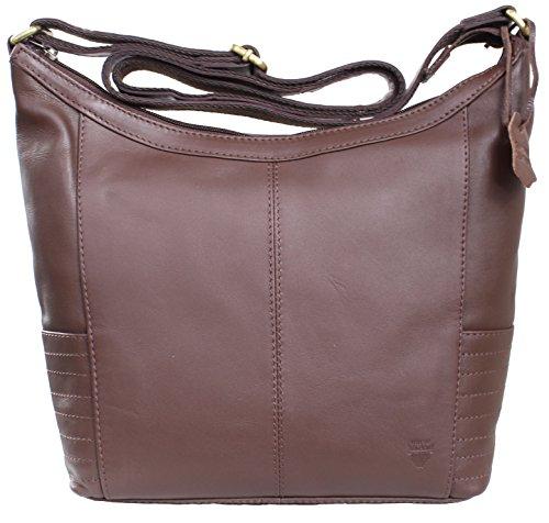 MIRI von RICANO, Damen Ledertasche / Handtasche / Umhängetasche aus Lamm Nappa Echtleder in Schwarz oder Braun