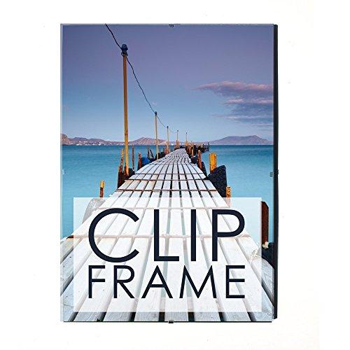 Clip Frame Bilderrahmen, Plexiglas, 19 verschieden Größen erhältlich, 24 x 30 cm