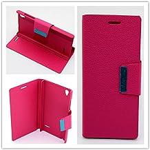 Misemiya ® Funda Orange Rono / ZTE Blade Vec 4G Libro Cuero Agenda Soporte Fucsia