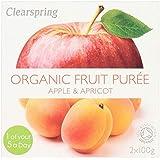 Clearspring Orgánica De Manzana Y Albaricoque Postre 2 X 100g (Paquete de 6)