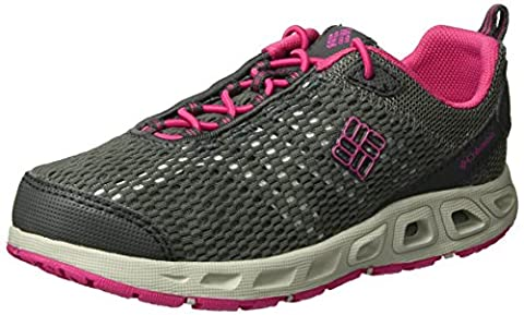 Columbia Childrens Drainmaker Iii Mädchen Trekking- & Wanderhalbschuhe, Grau (Dark Grey/Ultra Pink 089), 25 EU (7 Child UK), (Columbia Kinder Schuhe)