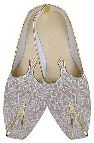 INMONARCH Herren Creme wundervolle Indische Hochzeit Schuhe MJ0164S10 43 Rahm -