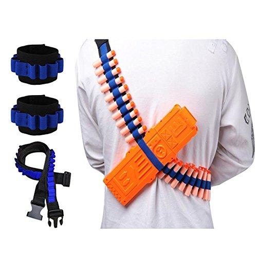 ltergurt, Pfeile-Bandelier mit 2 Handgelenkbändern, Kit für Nerf N-Strike Elite Bandelier-Kit-Serie, Zubehör für Kinderspielzeugpistole, Bullet Shoulder Strap*1 + Dart Wrister*2 ()